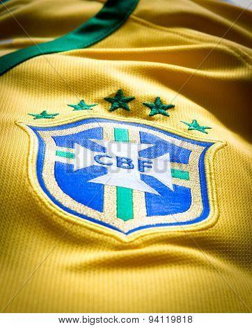 SAO PAULO, BRAZIL - CIRCA MAY 2015: The logo of the soccer organization