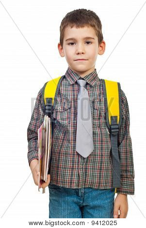 Boy In First Day Of School