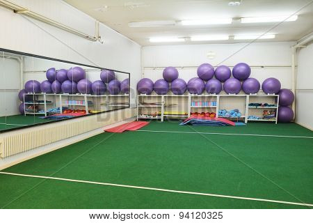 Interior of a sport hall