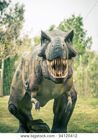 Ancient Extinct Dinosaur Tyrannosaurus
