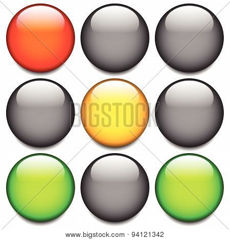 Traffic Light, Traffic Lamp, Lampsemaphore. Eps 10 Vector.