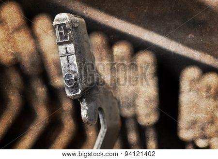 E Hammer - Old Manual Typewriter - Warm Filter