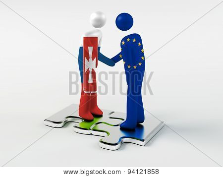 Business Partners New Russia and European Union