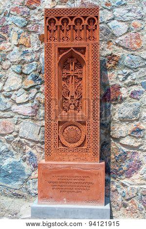 Stone Cross In Armenia