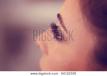 Eyelashes Of A Woman