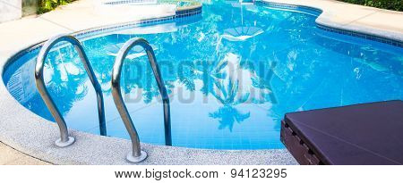 A View Clear Blue Swimming Pool
