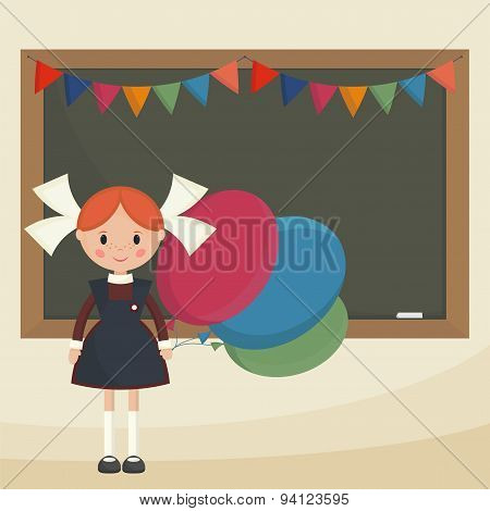Schoolgirl With Balloons