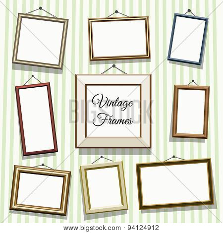 Vintage photo or picture frames