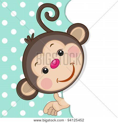 Monkey Peeking Out