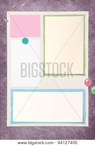 Empty Paper On Ragging Paint Floor