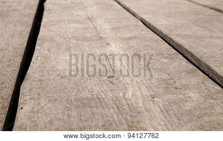 Old Brown Wooden Floor Perspective. Background