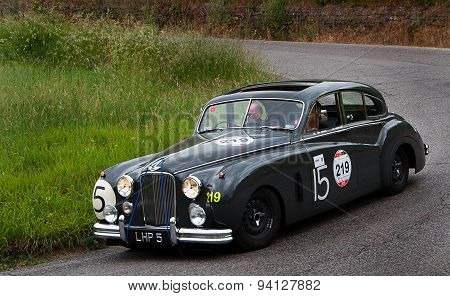 old car JAGUAR  Mark VII  1951 mille miglia 2015