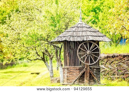 Old Wooden Water Well House
