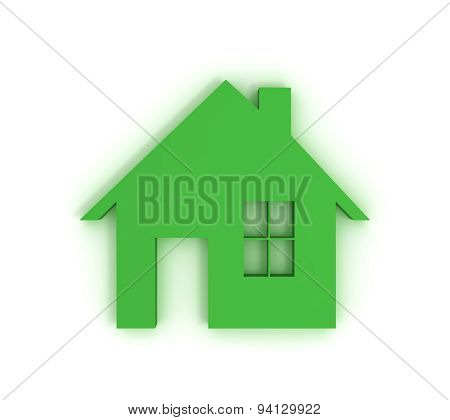 Green House With Clipping Path