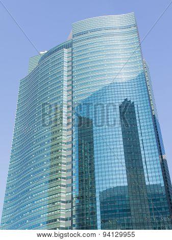 Skyscraper From Glass And Concrete