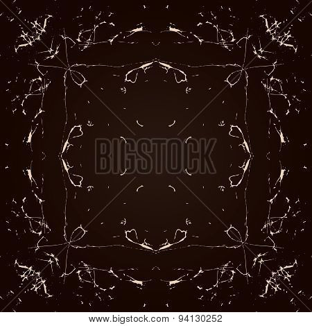 Vector Abstract Seamless Symmetrical Pattern