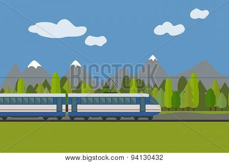 Train on railway