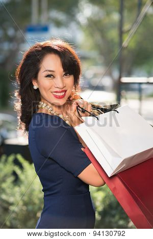 Gorgeous Woman With Shopping Bags