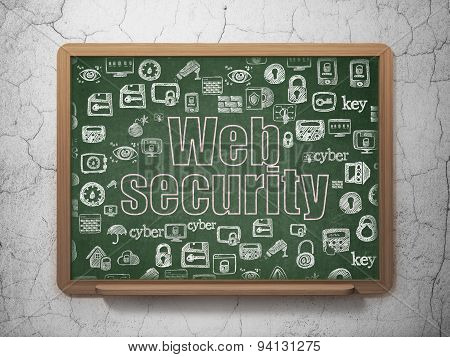 Privacy concept: Web Security on School Board background