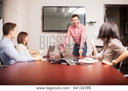 Handsome Boss In A Meeting