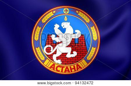 Flag Of The Astana, Kazakhstan.