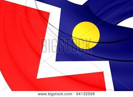 Flag Of The Denver, Usa.