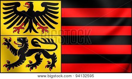 Flag Of The Duren City, Germany.