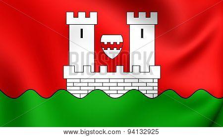 Flag Of The Niederkassel, Germany.