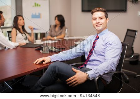 Handsome Lawyer In A Meeting Room