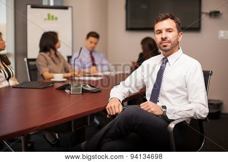 Businessman In A Meeting Room