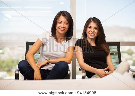 Casual Female Business Partners