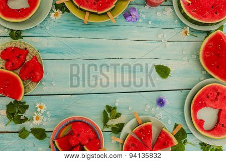 Watermelon - the delights of watermelon, frame