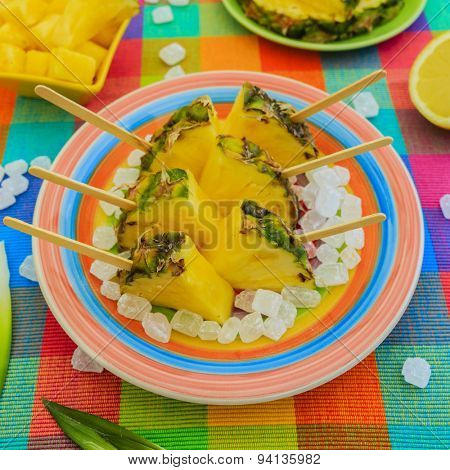 Pineapple - delights with pineapple, summer party