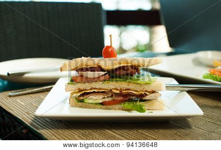 Sandwich For Business Lunch