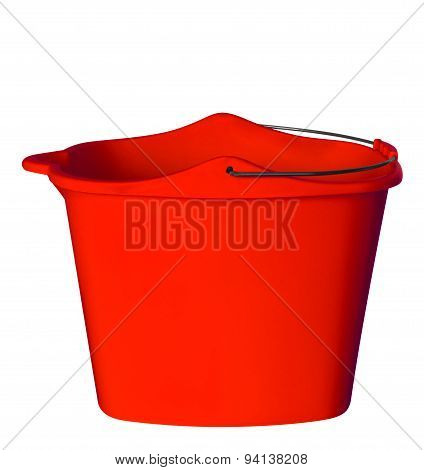 Plastic Bucket - Red