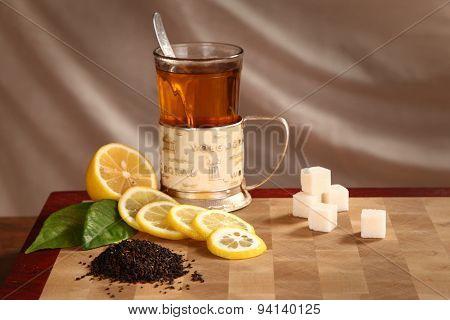 Tea, Lemon And Refined Sugar
