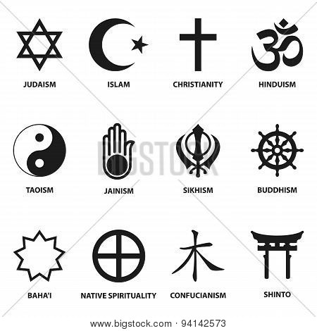Religious Sign And Symbols Poster Id94142573