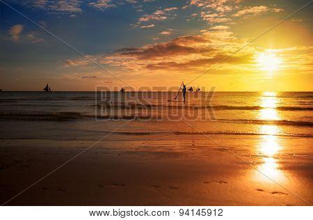 sunrise in and sea, beautiful summer wallpaper