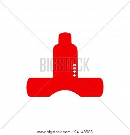 icon sticker realistic design on paper kitchen ventilation