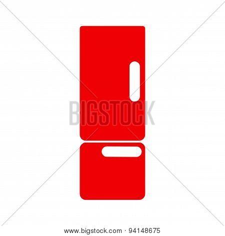 icon sticker realistic design on paper refrigerator