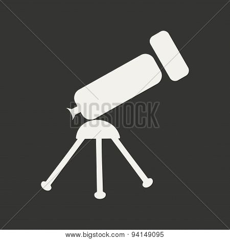 Flat in black and white mobile application telescope