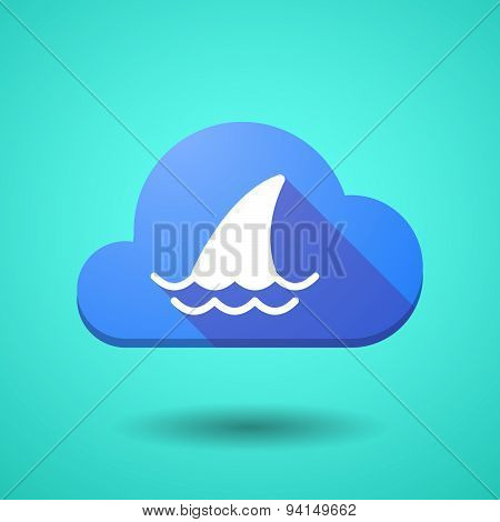 Cloud Icon With A Shark Fin