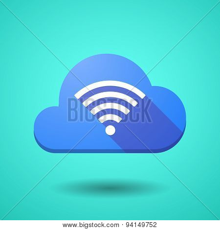 Cloud Icon With A Radio Signal Sign