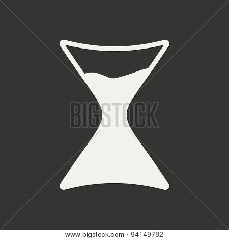 Flat in black and white mobile application alchemy symbols