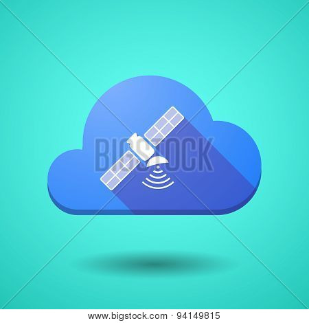 Cloud Icon With A Satellite