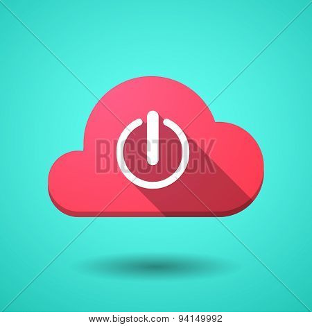 Cloud Icon With An Off Button
