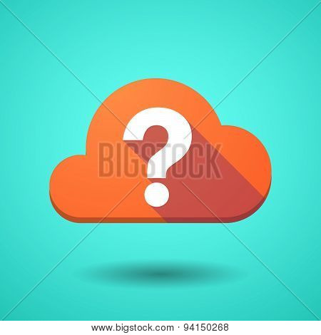 Cloud Icon With A Question Sign