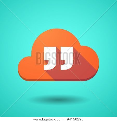 Cloud Icon With A Quotes