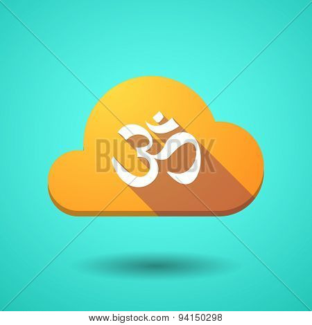Cloud Icon With An Om Sign