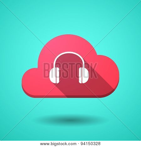 Cloud Icon With A Earphones